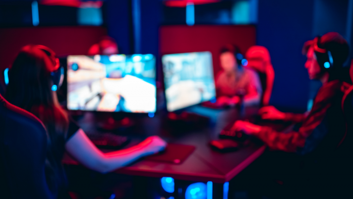 Blurred out image of gamers