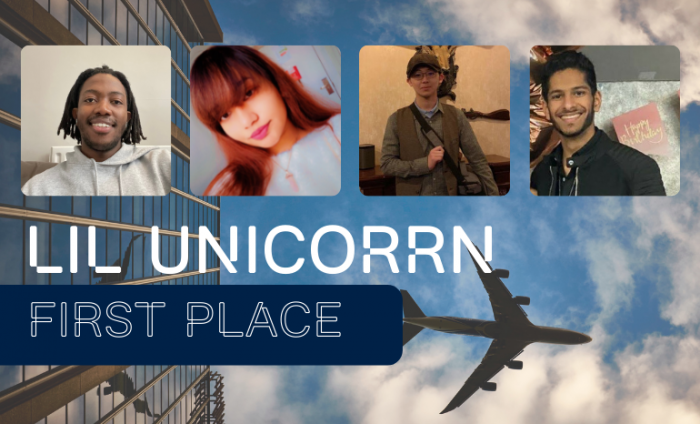 Image of the four students from Lil UnicoRRn team